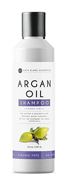Argan Oil Shampoo (8oz) by Kate Blanc. Sulfate Free. Organic Ingredients. No Toxic Chemicals. Moisturize and Add Volume and Shine to Hair. Perfect for Dry, Oily, or Color Treated Hair.