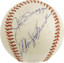 The Finest Known Joe DiMaggio & Marilyn Monroe Signed Baseball