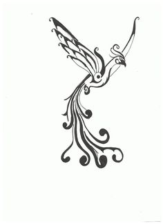 Phoenix Tattoo on deviantART  Ya know, all my tattoos are color.  Maybe this one should be black/white?  I like the delicate nature of this phoenix.  Hmmmm...