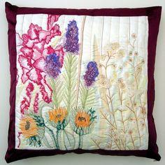 Flower Garden Cushion £95 emma elizabeth clease on #folksy