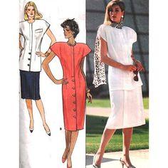 Butterick Sewing Pattern 4815 Misses' Petite Dress, Top, Skirt Size: 6-8-10 Uncut