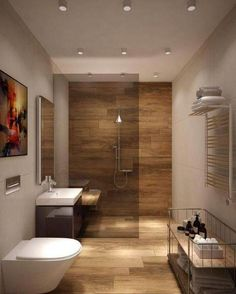 The other small bathroom design ideas are buoyant and revolutionary, rethinking what we expect a bathroom design should see like. Small Bathroom Renovations, Modern Bathroom Design, Bathroom Interior, Bathroom Ideas, Decorating Bathrooms, Bath Design, Modern Bathroom Lighting, Modern Lighting, Design Living Room