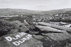 John Davies - Urban photographer. Penulta Rocks, Hengoed, Rhymney Valley, S. Wales, 1984.
