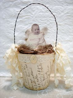 Peat pot nest. Great idea for Easter baskets.