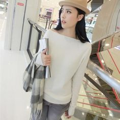 Like and Share if you want this  2016 autumn and spring pure cashmere sweater collar women sweater big collar strapless neckline seam ladys basic pullover shirt     Tag a friend who would love this!     FREE Shipping Worldwide     Get it here ---> https://worldoffashionandbeauty.com/2016-autumn-and-spring-pure-cashmere-sweater-collar-women-sweater-big-collar-strapless-neckline-seam-ladys-basic-pullover-shirt/