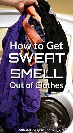 Want to know how to get sweat smell out of clothes, perhaps even how to get smell out of workout clothes that still smell after washing? Below you'll discover how to remove sweat smell from shirts and other gym clothes super easily!