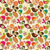 Little Birds fabric by valentinaramos for sale on Spoonflower - custom fabric, wallpaper and wall decals