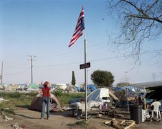 "from photo book   ""The Last Days of  West St. Paul""  by Alex Soth  homeless camp"