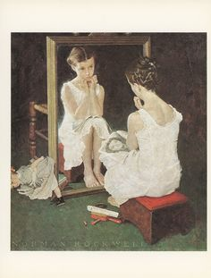 Norman Rockwell - Girl at the Mirror
