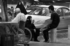 Baghdad in 2012, resides in the center of Baghdad doctors' offices. #Photography #Iraq #Baghdad #black and white #Documentary #People