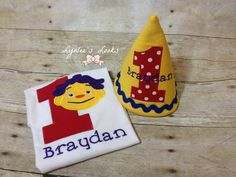 Sid the science kid birthday shirt and party hat. by LynleesLooks