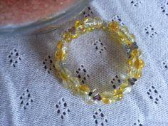 Handmade Citrus Yellow  Breast Feeding Bracelet  by MsRetroDesigns, £10.00