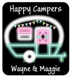 Happy Camper Neon Sign by PinkNeonLaura on Etsy