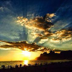 Another Breathtaking Sunset by the Arpoador Beach...Rio De Jenaro