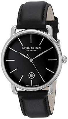 Stuhrling Original Ascot Mens Black Watch – Swiss Quartz Analog Date Wrist Watch for Men – Stainless Steel Mens Designer Watch with… #deals