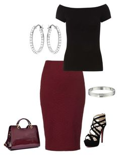 Polyvore featuring Dorothy Perkins, Lipsy, Dasein, Kate Spade and Swarovski