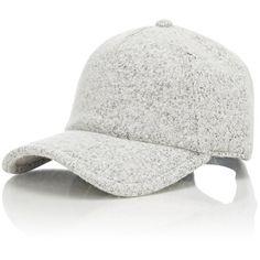 Rag & Bone Marilyn Baseball Cap ($125) ❤ liked on Polyvore featuring accessories, hats, white, rag & bone, striped hat, leather hat, leather baseball cap and rag & bone hat