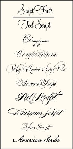 Tatoo fonts CT-Designs Calligraphy and Wedding Stationery: Wedding Font Combinations Tattoo Fonts Cursive, Tattoo Script, Calligraphy Fonts, Typography Fonts, Hand Lettering, Tattoo Quotes, Penmanship, Tattoo Writing Fonts, Cursive Script