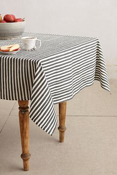 Awning Stripe Tablecloth #anthropologie