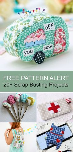 FREE PATTERN ALERT: 20+ Scrap Busting Projects Use this projects to create stunning gifts for this Christmas season. Click here to learn more