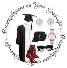"""""""Congraduations!! """" by styleninja94 on Polyvore featuring Elizabeth and James, Giuseppe Zanotti, Marc by Marc Jacobs, Yves Saint Laurent, River Island and graduationdaydress"""
