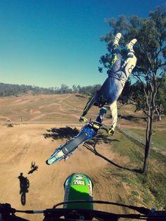 that is soooooooooo crazy doing that on a small jump