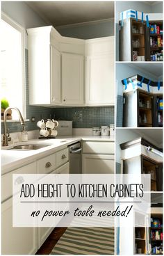 How To Add Height To Kitchen Cabinets - No Power Tools Needed!