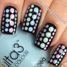 Pretty pastels with black base color