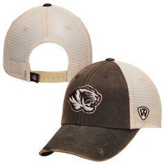 Missouri Tigers Top of the World Scat Mesh Trucker Adjustable Hat - Brown - $23.99