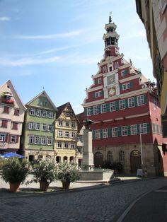 #clock tower  - Esslingen, Germany ©Rebecca Mebane 2009