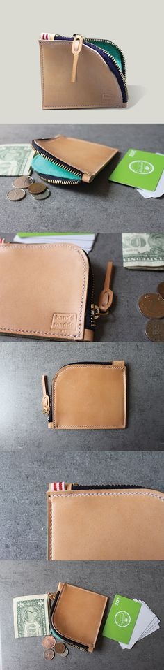 38€ - slim zip wallet by handdmadde