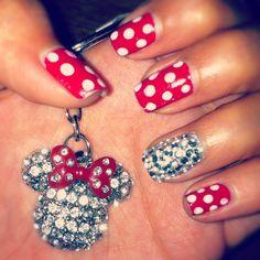 Nail design Minnie mouse - easy & fun to do ;)