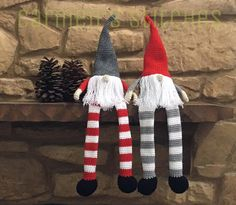 Christmas Gnome - xmas - holiday decoration - decorative - carmen's stitches