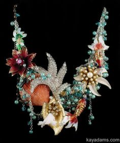 Time to CREATE. Perhaps an UNDERWATER OaSiS Necklace? Downpayment for a custom Kay Adams creation.: