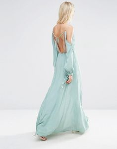 Image 2 ofASOS Lingerie Cami Cold Shoulder Maxi Dress