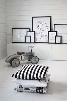 Black + White children's room, IKEA furniture