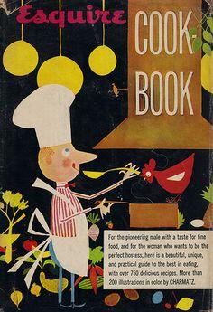 Esquire Cookbook Illustration by Bill Charmatz