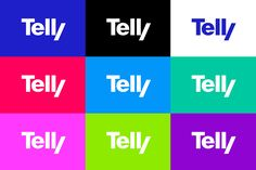 Telly – visual identity on Behance Identity Design, Visual Identity, Brand Identity, Logo Branding, Logos, Out Of Home Advertising, Short Names, The Beginning Of Everything, Old Names