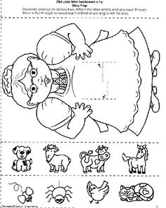 The old lady that swallowed a fly.I don't know why she swallowed a fly. Printables for song Language Activities, Literacy Activities, Therapy Activities, Drama Activities, Literacy Centers, Swallowed A Fly, Library Lessons, Library Skills, Kindergarten Literacy
