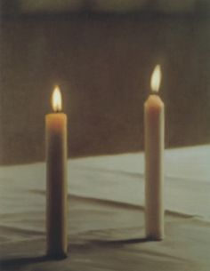 Gerhard Richter: Zwei Kerzen - Two Candles Oil on canvas 124 cm x 99 cm Gerhard Richter, New European Painting, Morgana Le Fay, Ecole Art, Jackson Pollock, Installation Art, Les Oeuvres, Painting & Drawing, Oil On Canvas