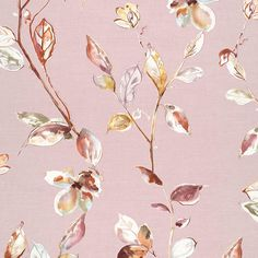 SUMI-E Galerie 219450- S&A Supplies Tree Leaf Wallpaper, Pink Wallpaper, Lotus Design, Tree Leaves, Illustrations Posters, Delicate, Elegant, Flowers, Summer