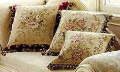 Love these silk Aubusson pillows.