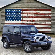 Jeep Wrangler Limited Edition Patriot comes in red, white, or blue! Two door or four door, soft top or hard top.