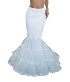 TF Dress Womens Mermaid Fishtail Hoop Bridal Wedding Petticoat One Size White *** You can get more details by clicking on the image.