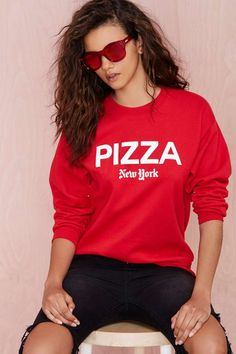 Petals and Peacocks Pizza NY Sweatshirt