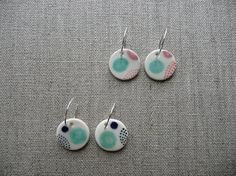 """Ceramic earrings by """"and o design"""""""