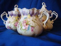 Beautiful Antique RS Prussia Sugar/Creamer/Syrup Set