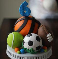 Fondant Cake Topper Set Sports-Themed Fondant by LesPopSweets