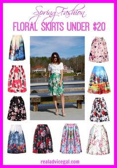 Get ready for spring with some floral prints. Check out our list of floral skirts under $20!