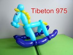 "N° 67 ""Le cheval à bascule"" Rocking horse balloon tutorial ,cabalo globo - YouTube"